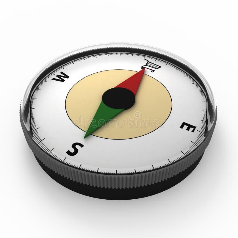 Metaphorischer Kompass stock abbildung