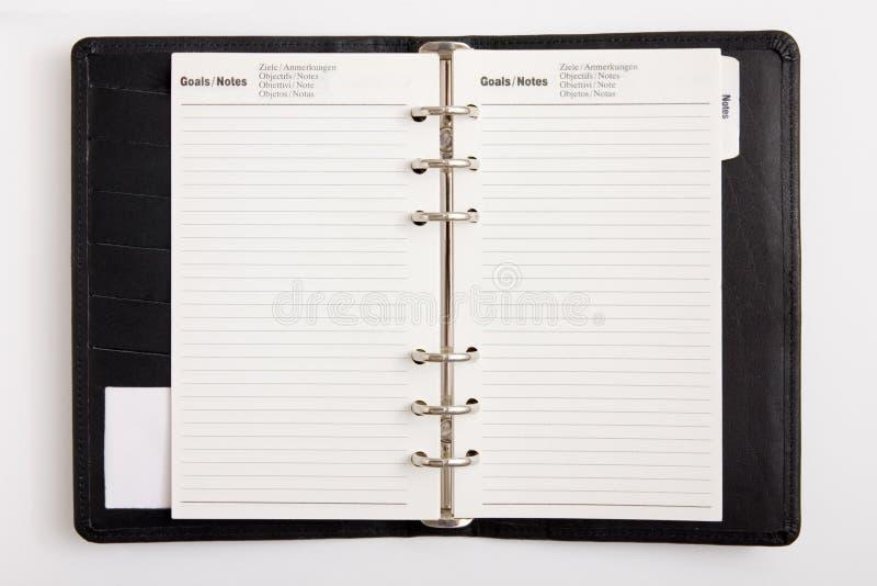 Metas de la agenda del asunto fotos de archivo libres de regalías