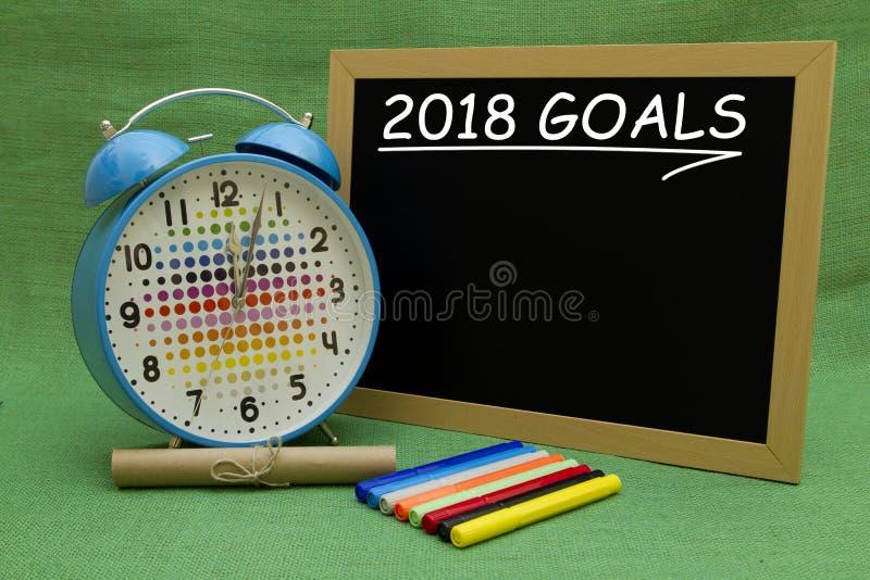 2018 metas del Año Nuevo imagen de archivo libre de regalías