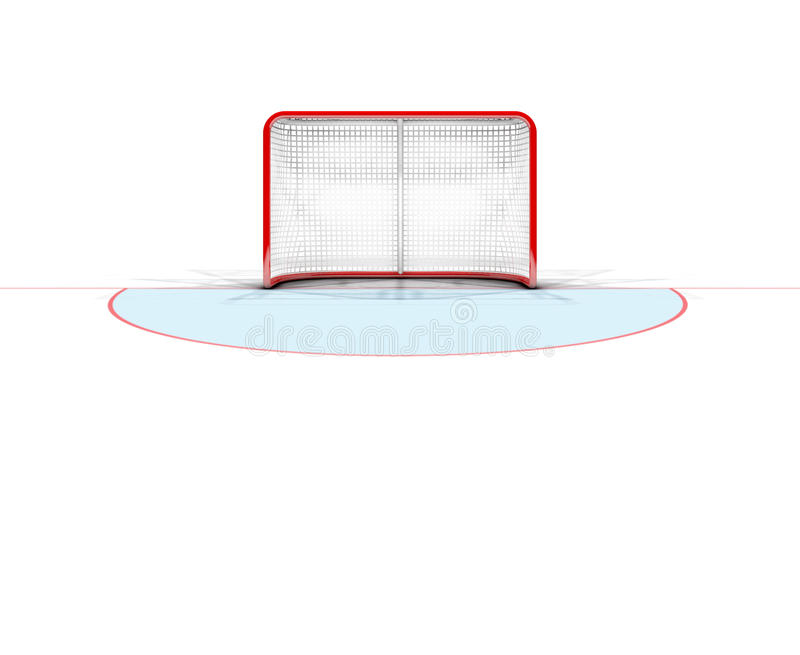 Metas del hockey sobre hielo ilustración del vector