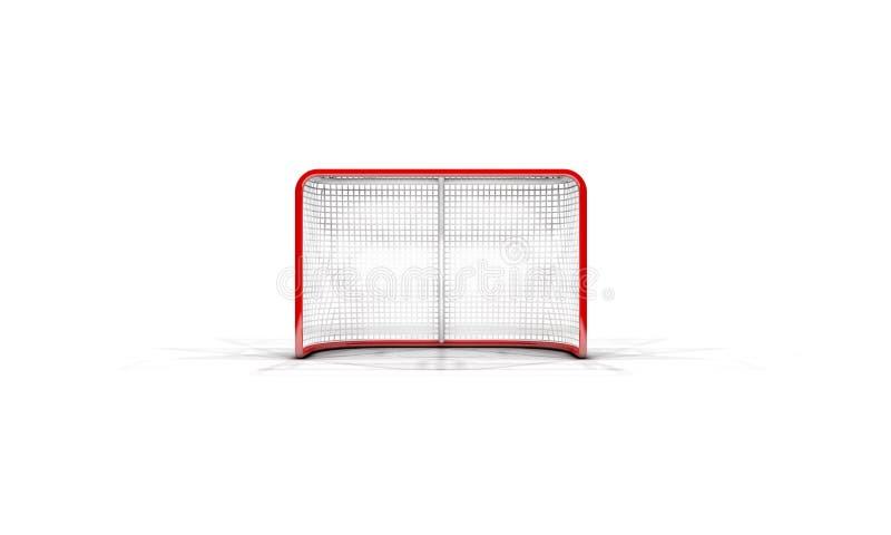 Metas del hockey sobre hielo stock de ilustración