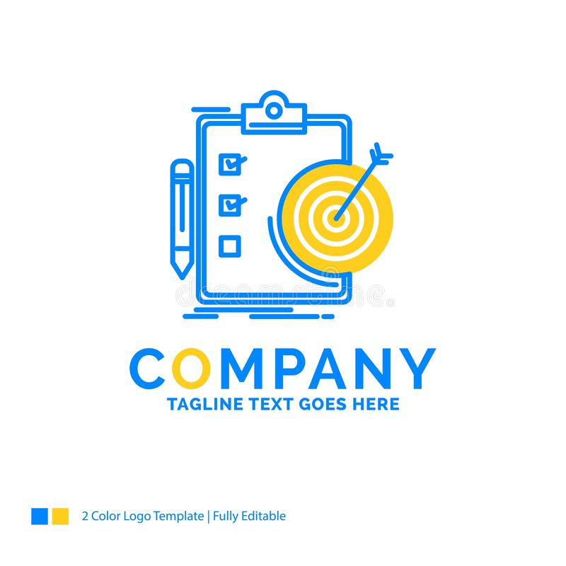 metas, informe, analytics, blanco, logro Busine amarillo azul libre illustration