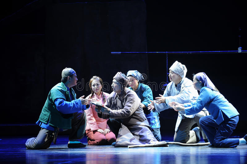Metasomatic testament- Jiangxi opera a steelyard. Jiangxi opera a steelyard is adapted from a true story: the last century fortys, the protagonists father runs royalty free stock photo
