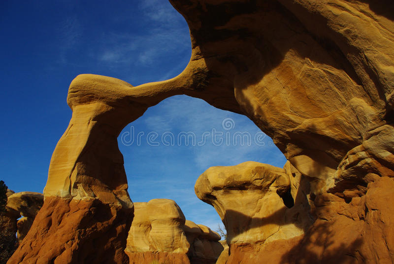 Metate曲拱,恶魔庭院,犹他 免版税库存图片
