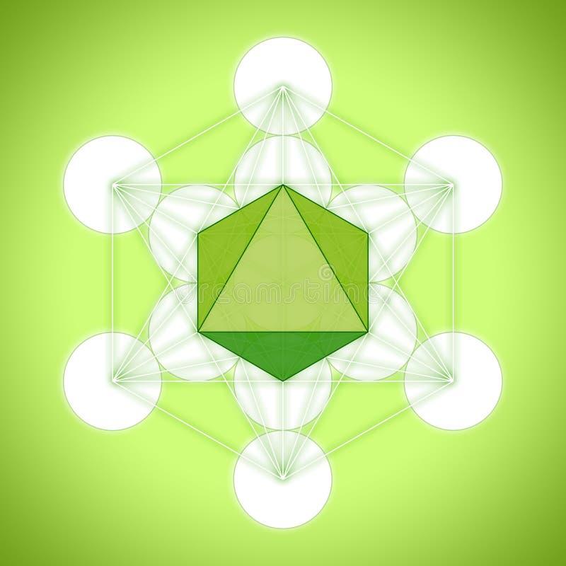 Metatron与帕拉图式的固体的` s立方体-八面体 皇族释放例证