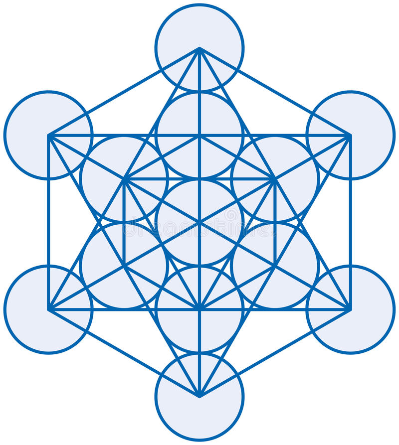 Metatron立方体 库存例证