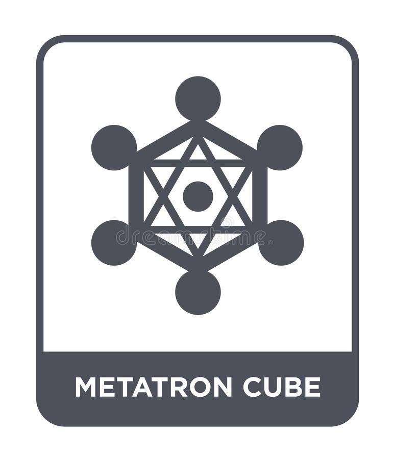 metatron cube icon in trendy design style. metatron cube icon isolated on white background. metatron cube vector icon simple and royalty free illustration