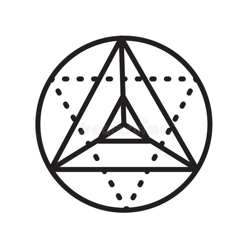 Metatron cube icon vector sign and symbol isolated on white back royalty free illustration