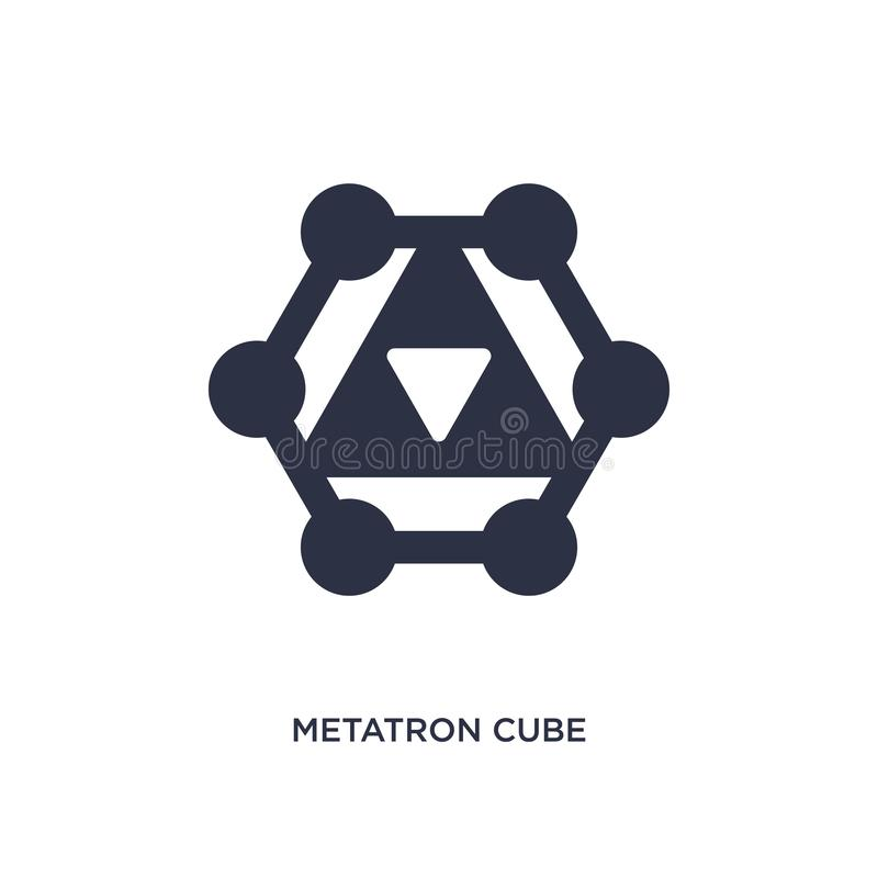 metatron cube icon on white background. Simple element illustration from geometry concept vector illustration
