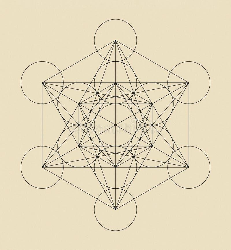 Metatron`s Cube vector illustration