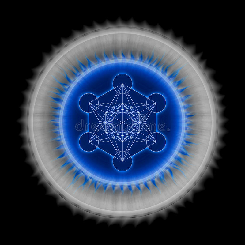 Metatron`s Cube royalty free illustration