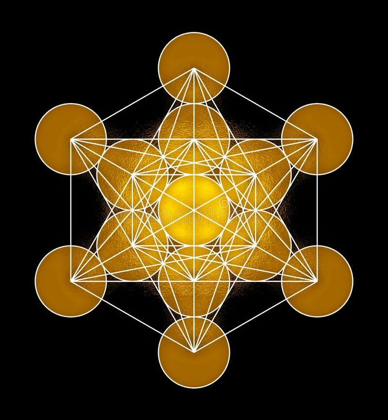 Metatron's Cube Symbol vector illustration