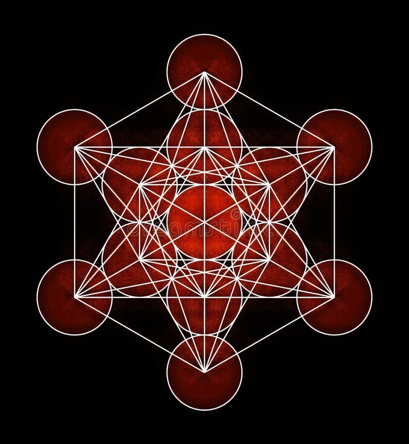 Metatron's Cube Symbol stock illustration