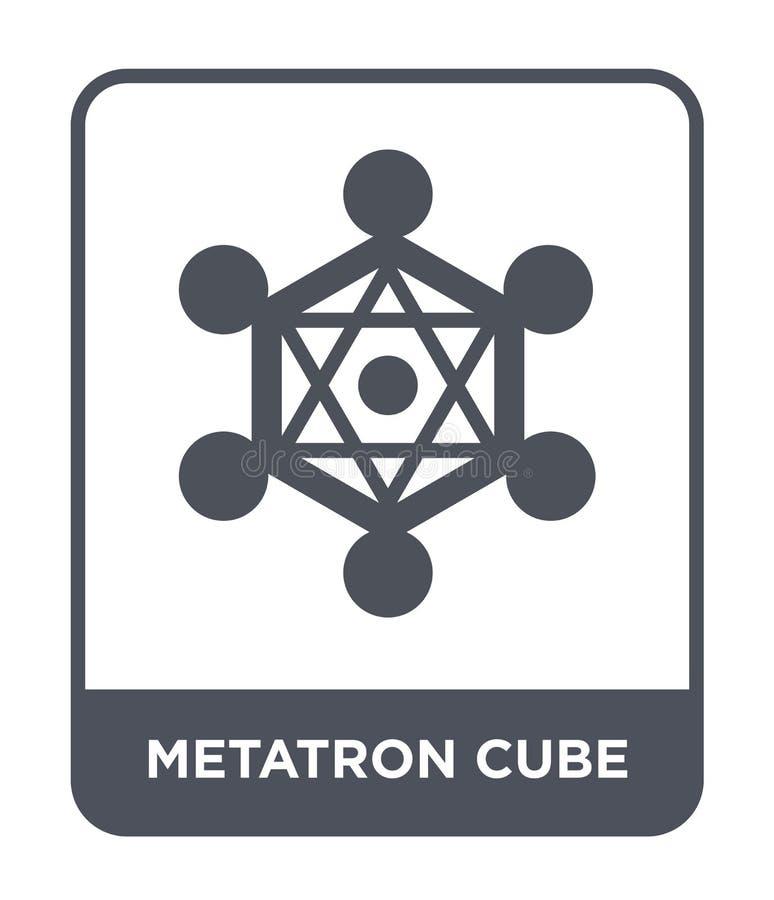 metatron skära i tärningar symbolen i moderiktig designstil metatron skära i tärningar symbolen som isoleras på vit bakgrund enke royaltyfri illustrationer