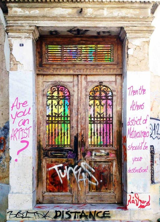 Metaxourgeio, Athens ,Greece royalty free stock photography