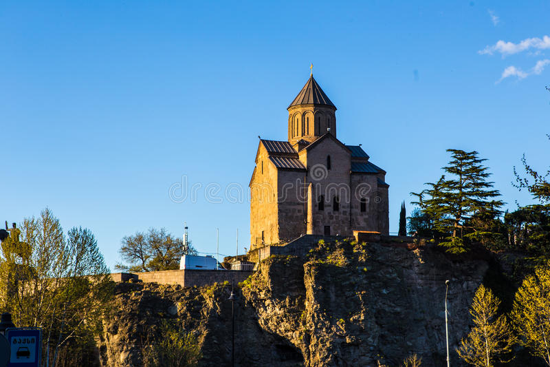 Download Metekhi church stock photo. Image of churchkhela, eastern - 95126386
