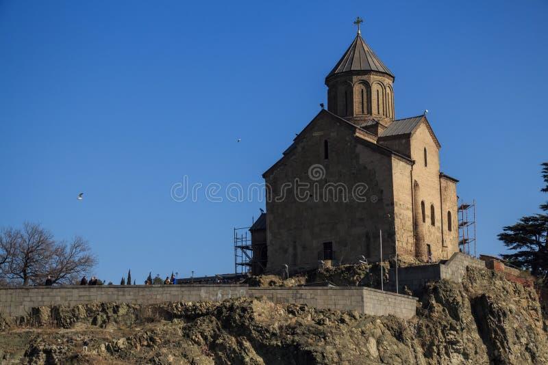 Metekhi kyrka av antagandet arkivbild