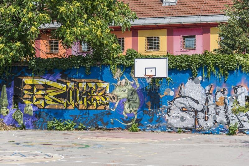 Metelkova Mesto Ljubljana, Slovenië stock foto