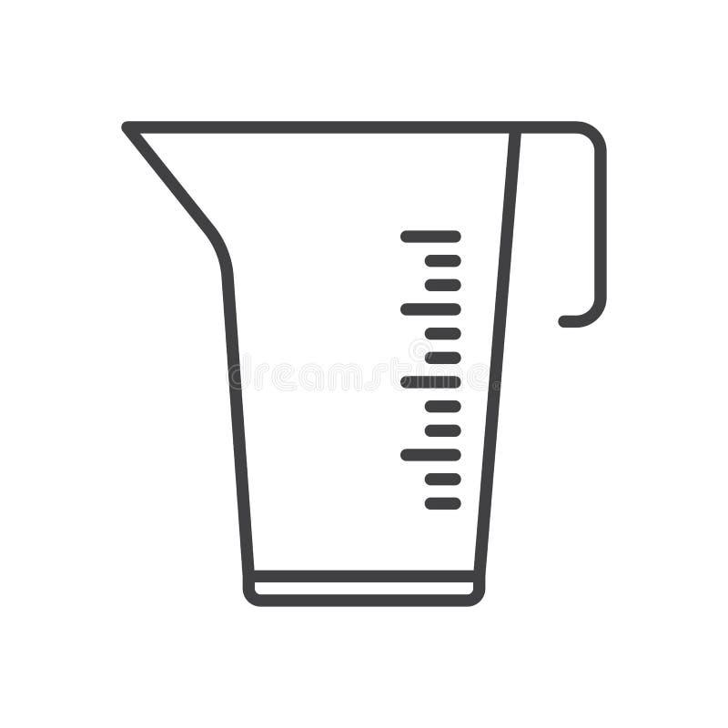 Metend het pictogram van de koplijn, overzichts vectorteken, lineair die stijlpictogram op wit wordt geïsoleerd stock illustratie