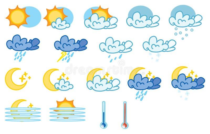 Download Meteo stock vector. Image of lunar, season, overcast, cold - 8870583