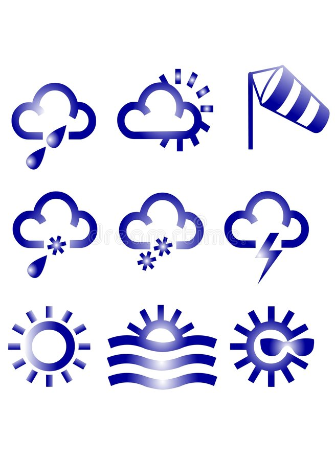 Download Meteo Icons stock illustration. Illustration of weather - 623503