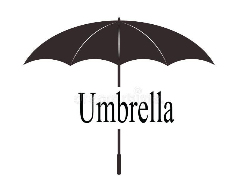 Meteo nero d'annata dell'ombrello immagini stock