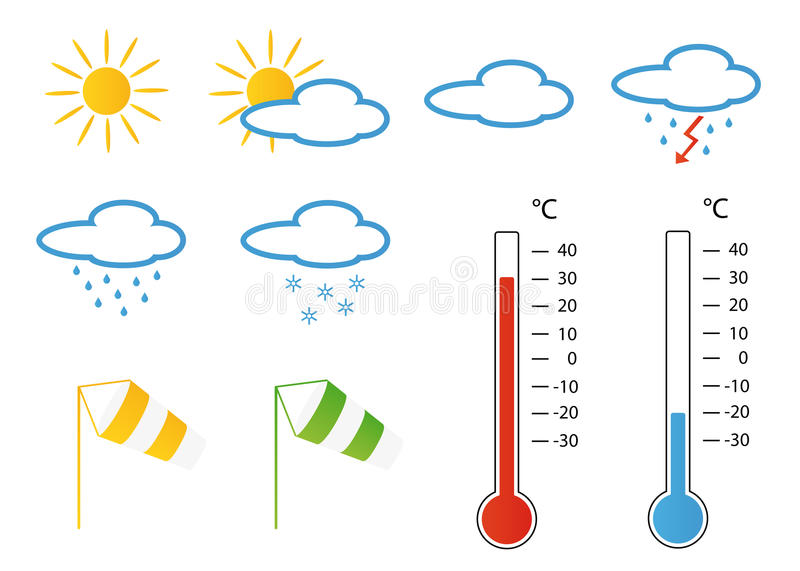 Download Meteo symbols stock illustration. Image of instrument - 12829351