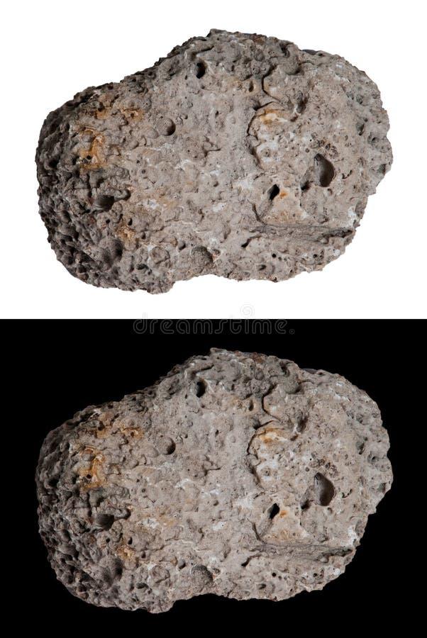 Meteoor, Komeet, Ruimte Witte Rots, Geïsoleerdev Zwart, royalty-vrije stock afbeeldingen