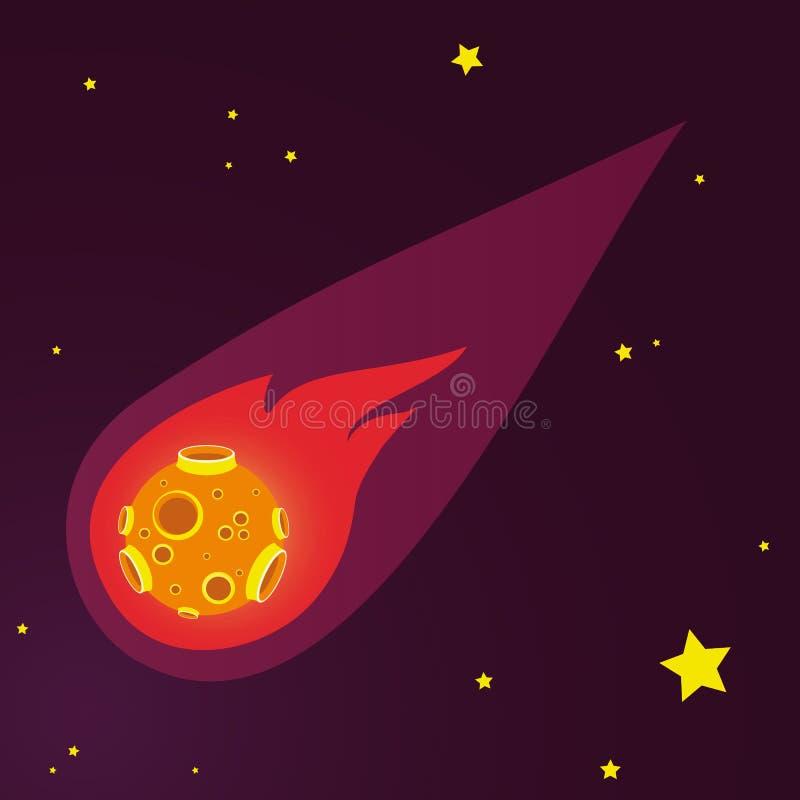 Meteoor vectorillustratie stock illustratie