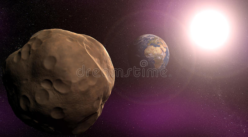 Meteor stock image