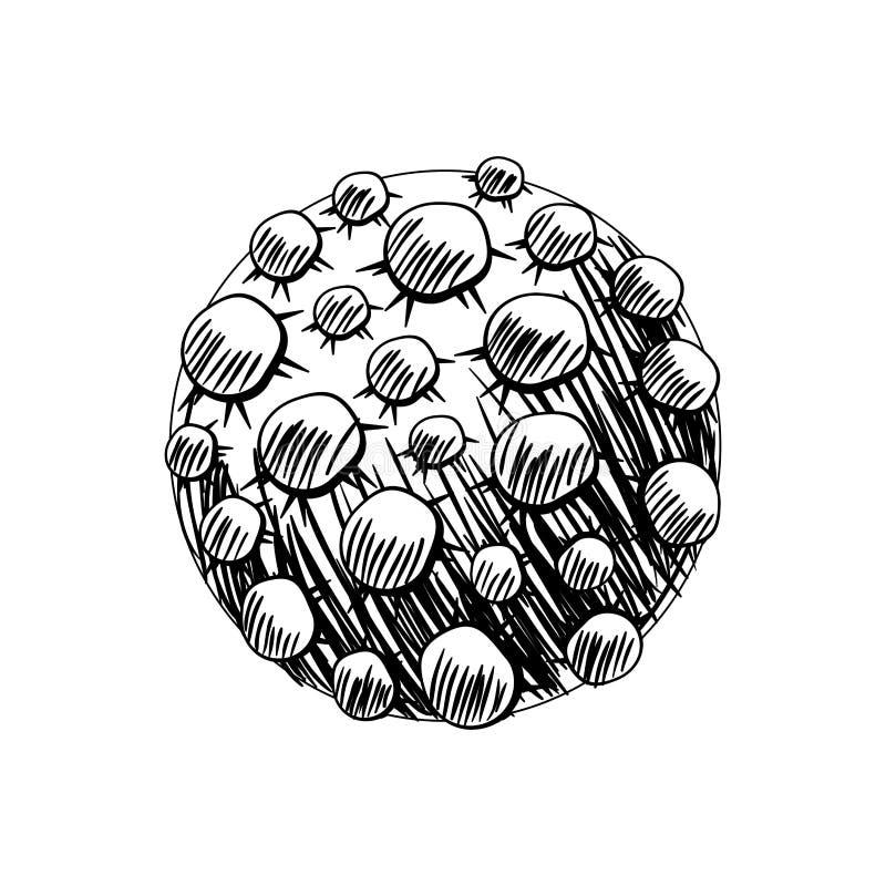 Meteor av solsystemet i vit vektor illustrationer