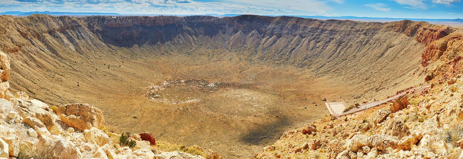 Meteor crater also known as Barringer crater in Arizona royalty free stock photo