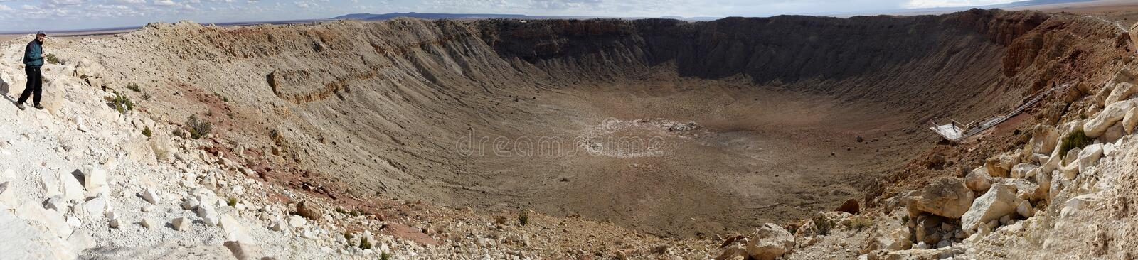 Download Meteor Crater Panorama stock photo. Image of crater, impact - 12260896
