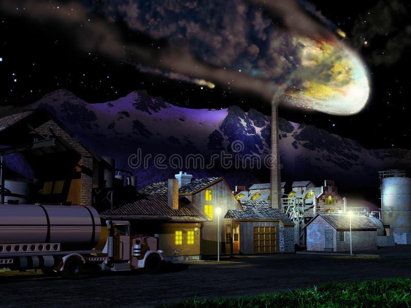 Download Meteor falling stock illustration. Image of mounts, humanity - 21899443