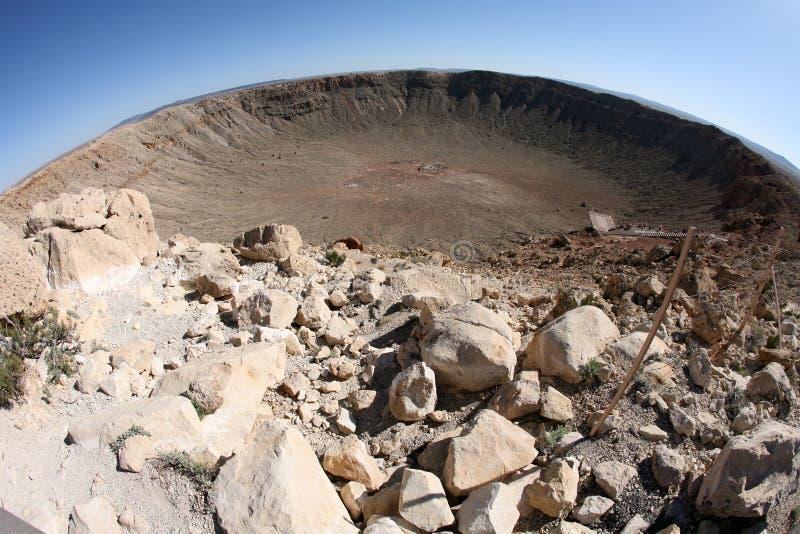 Meteor impact crater Winslow Arizona USA. The meteor impact crater Winslow Arizona USA royalty free stock image