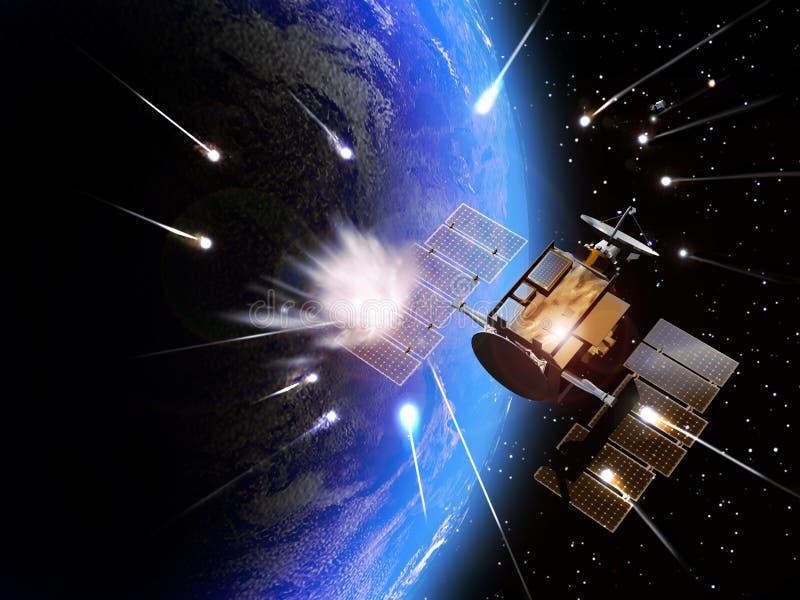 Meteor impacts stock illustration