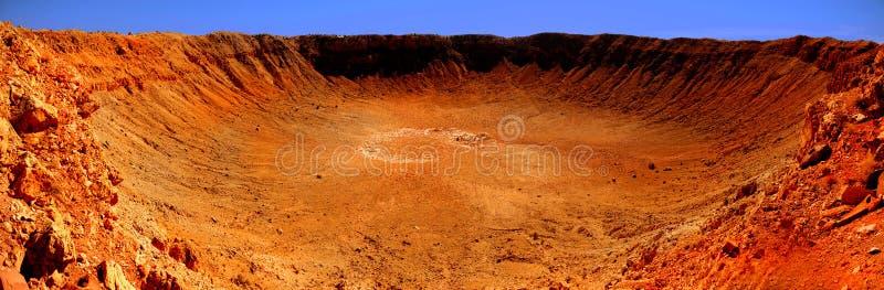Meteor-Krater stockbilder