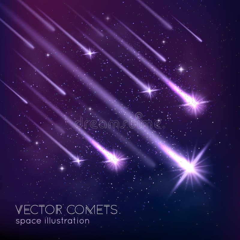 Meteor Shower Background vector illustration