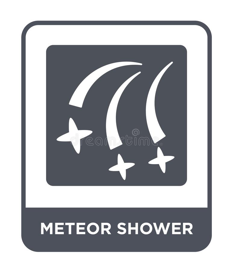 meteor shower icon in trendy design style. meteor shower icon isolated on white background. meteor shower vector icon simple and royalty free illustration