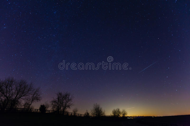 Meteor Shower Stock Photography