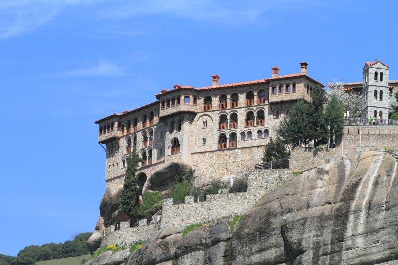 meteora的古老修道院 免版税库存图片