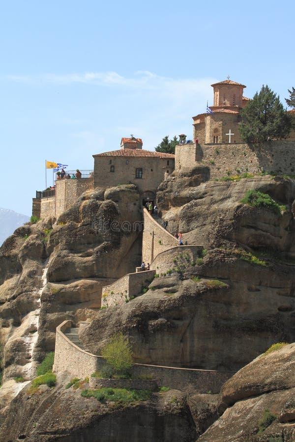 meteora的古老修道院 库存图片