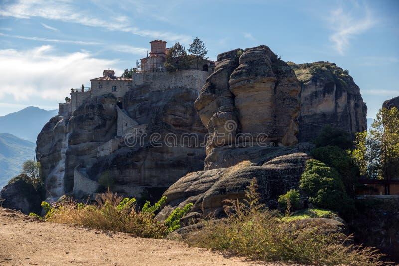 Meteora, ιερό μοναστήρι μεγάλου Meteoron στοκ φωτογραφία