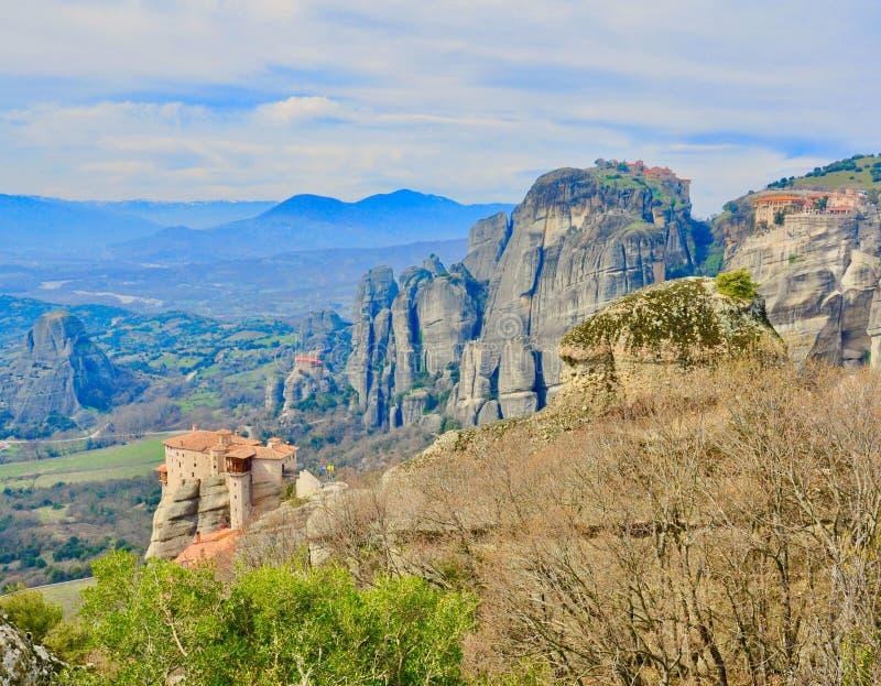 meteora της Ελλάδας στοκ φωτογραφία με δικαίωμα ελεύθερης χρήσης