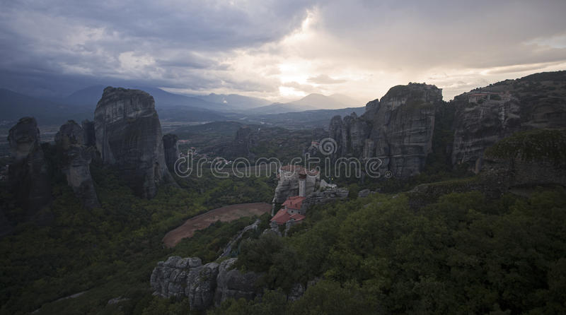 Meteora fotografie stock libere da diritti