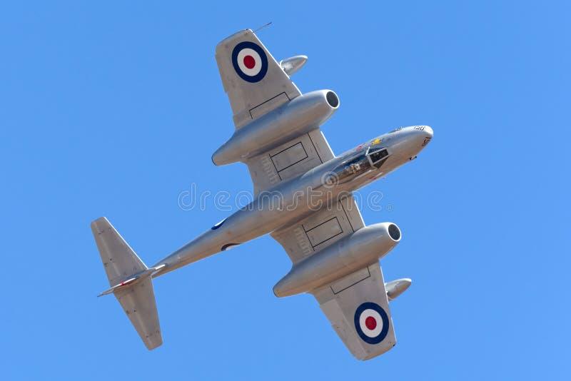Meteora F di Gloster 8 aerei VH-MBX nelle marcature dell'aeronautica di australiano reale di era della guerra di Corea RAAF immagine stock libera da diritti