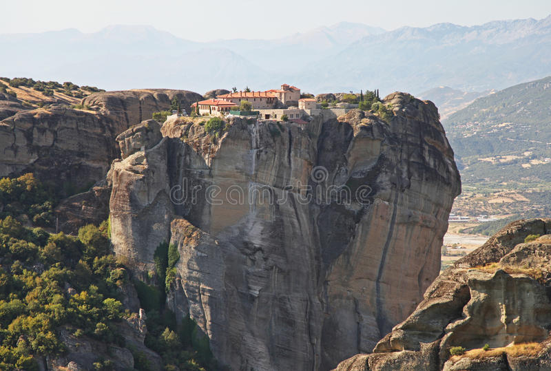 Download Meteora in Greece stock image. Image of monk, greece - 27330281