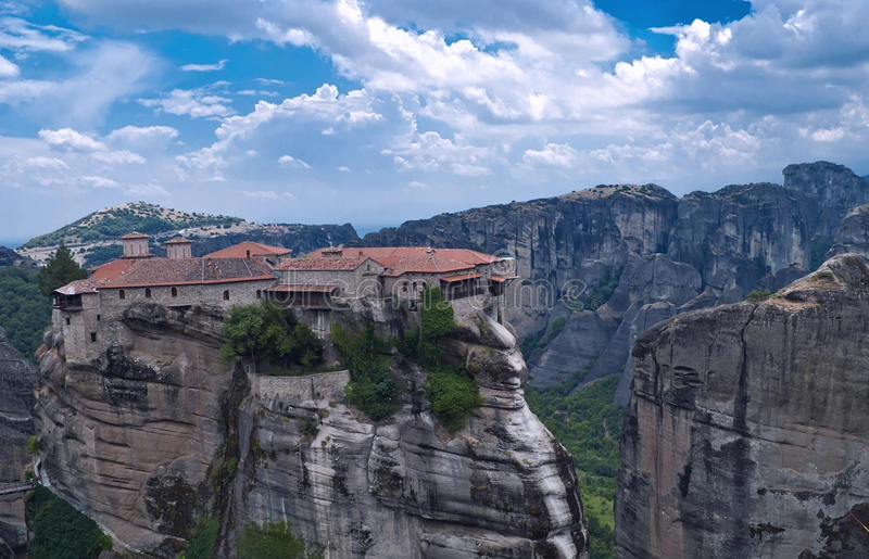 Meteora, Greece. The Meteora is one of the largest and most important complexes of Eastern Orthodox monasteries in Greece, consists of six monasteries, built on
