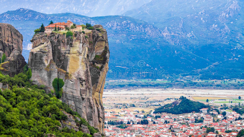 The Meteora in Greece royalty free stock image