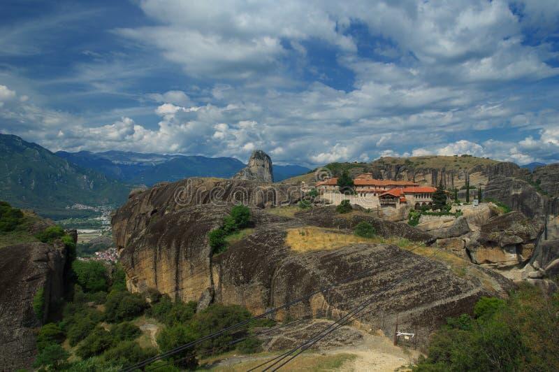 Meteora Grekland - kloster av den heliga Treenighet royaltyfri fotografi